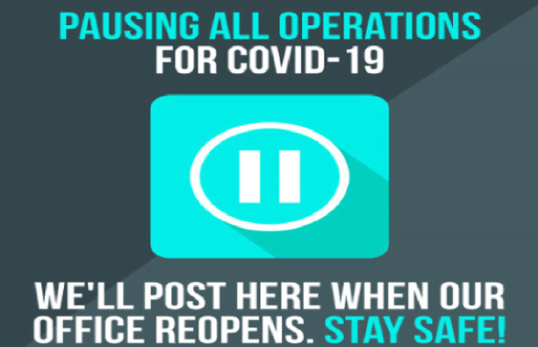 COVID-19 closure notice